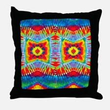 Colorful Tie-Dye Throw Pillow