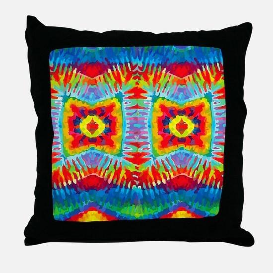Colorful Tie-Dye Throw Pillow