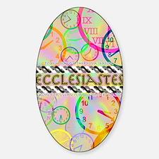 Ecclesiastes Poster Sticker (Oval)