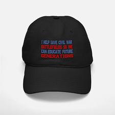ISAVEcivilwarBATTLEFIELDS2 Baseball Hat