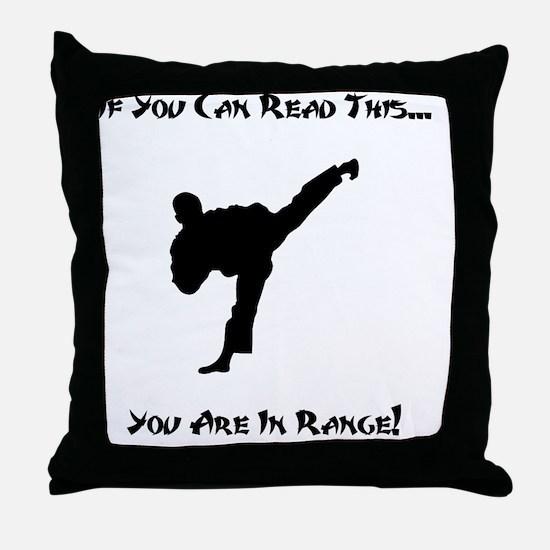 In Range Black Throw Pillow