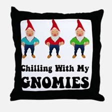 Gnomies Black Throw Pillow