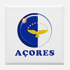 Azores islands flag Tile Coaster