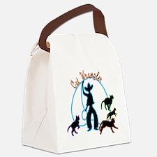 Cat Wrangler Light Canvas Lunch Bag