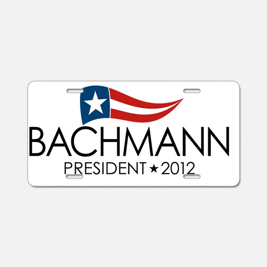 SQ_bachmann_flag_04 Aluminum License Plate