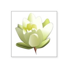 "Water Lily Square Sticker 3"" x 3"""