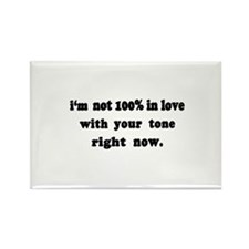 Not 100% in Love Rectangle Magnet