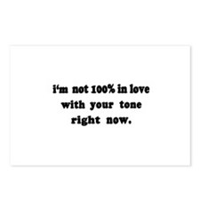 Not 100% in Love Postcards (Package of 8)