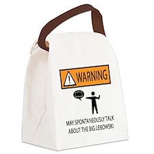 spontaneous big lebowski copy Canvas Lunch Bag