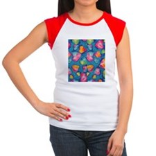 Tie-Dye Hearts FF Women's Cap Sleeve T-Shirt