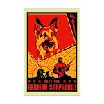 Obey the German Shepherd! Mini Poster Print