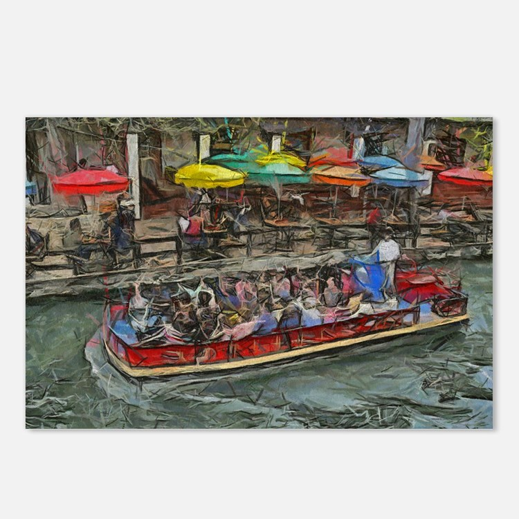 River Walk 14 x 10 Postcards (Package of 8)