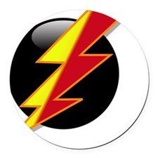 Flash Two Tone Round Car Magnet
