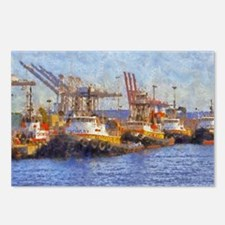 tugs 14 x 10 Postcards (Package of 8)
