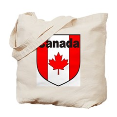 Canadian Flag Shield Tote Bag