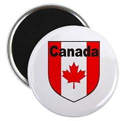Canadian Flag Shield 2.25