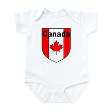 Canadian Flag Shield Infant Bodysuit