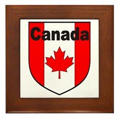 Canadian Flag Shield Framed Tile