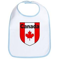 Canadian Flag Shield Bib