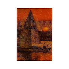 sail at sunset 14 x 10 Rectangle Magnet