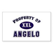 Property of angelo Rectangle Decal