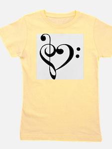 Black Music Heart Girl's Tee
