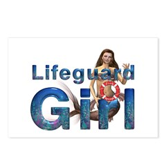 Lifeguard Girl Postcards (Package of 8)