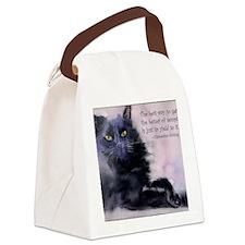 sadieattitude.TemptationCard Canvas Lunch Bag