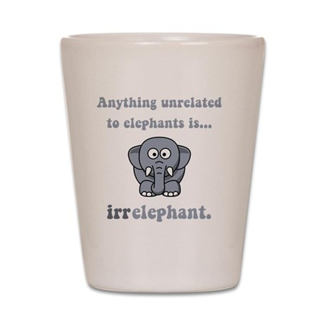 Irrelephant Grey Shot Glass
