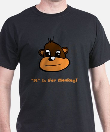 M Is For Monkey Brown (2) T-Shirt