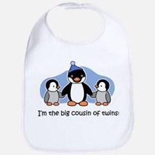 Big Cousin of Twins (Penguin) Bib