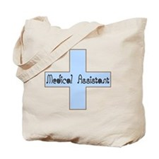 Medical assistant cross blue Tote Bag