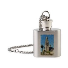 balboa tower 14 x 10 Flask Necklace