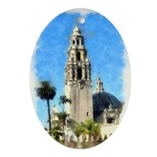 balboa tower 14 x 10 Oval Ornament