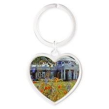 monticello 14 x 10 Heart Keychain