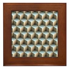 cubesStacked Framed Tile