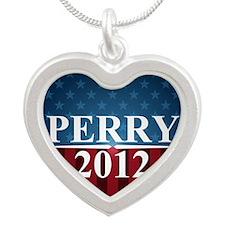 perrystarbutton Silver Heart Necklace