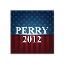"perrystarbutton Square Sticker 3"" x 3"""