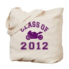 CO2012 Superbike Purple Distressed Tote Bag
