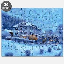 blue baveria 14 x 10 Puzzle