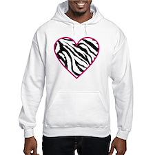 zebra heart Hoodie