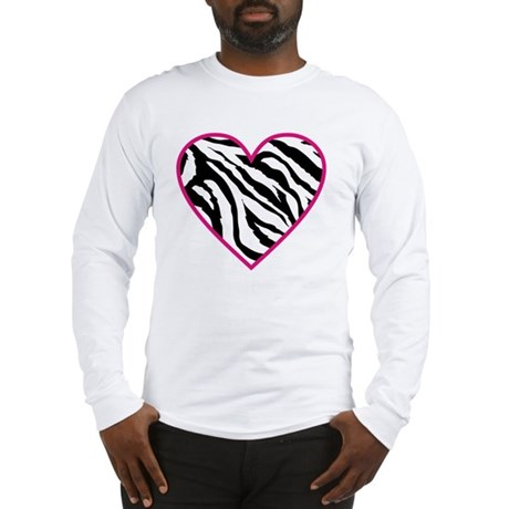 zebra heart Long Sleeve T-Shirt