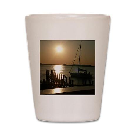 Sailboat at Sunset Shot Glass