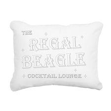 Regal Beagle Text White Rectangular Canvas Pillow