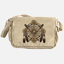 Dreamcatcher Medicine Wheel Messenger Bag