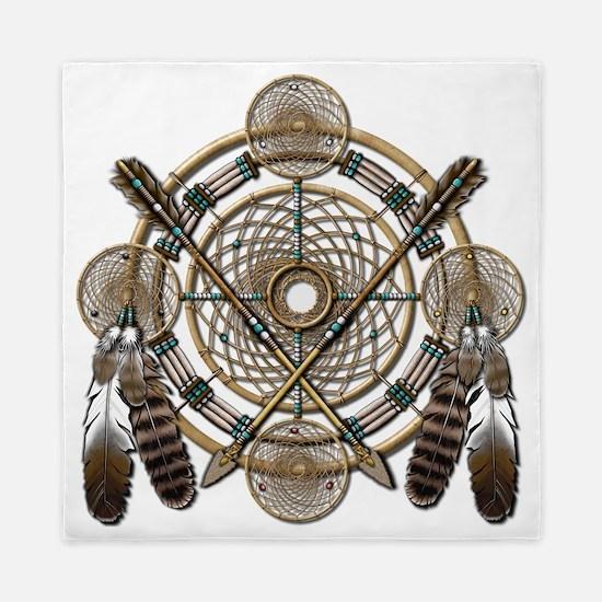 Dreamcatcher Medicine Wheel Queen Duvet