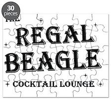 Regal Beagle Text Black Puzzle
