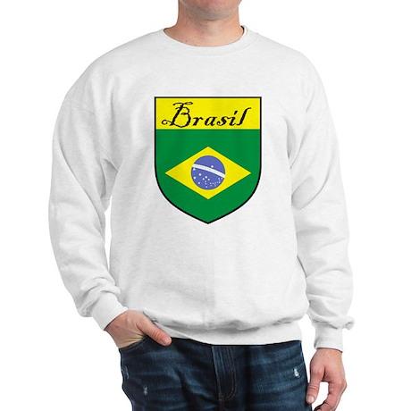 Brasil Flag Crest Shield Sweatshirt