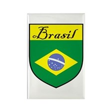 Brasil Flag Crest Shield Rectangle Magnet