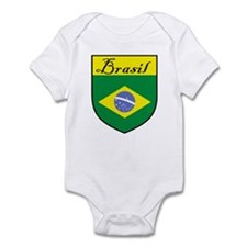 Brasil Flag Crest Shield Infant Bodysuit
